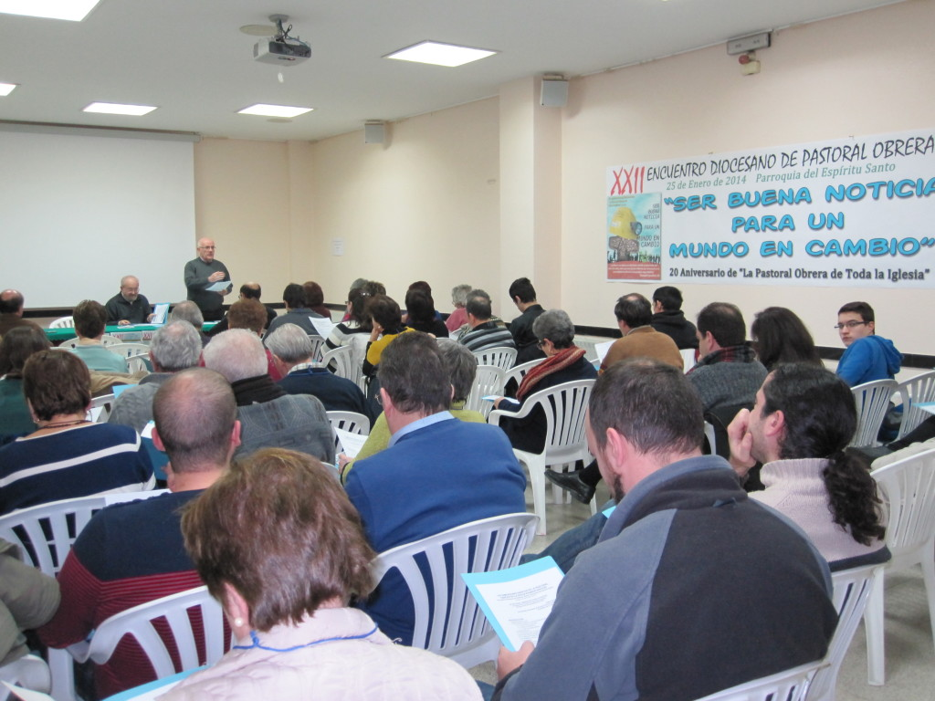 En el encuentro participaron cerca de ochenta militantes de grupos de pastoral obrera.