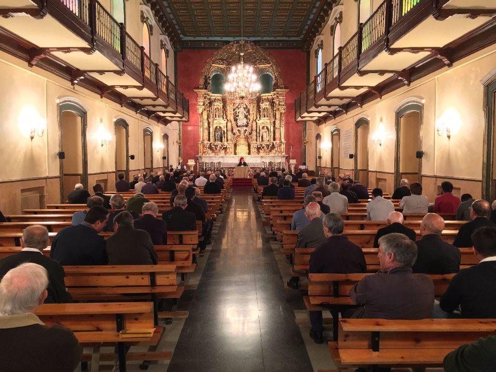 Imagen del retiro del último año en el Seminario de San José.