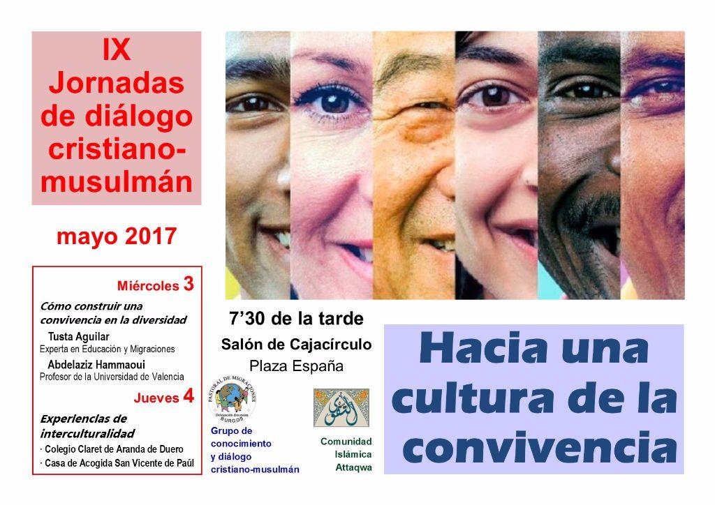 Cartel IX Jornadas de diálogo cristiano-musulmán 2017 (1)