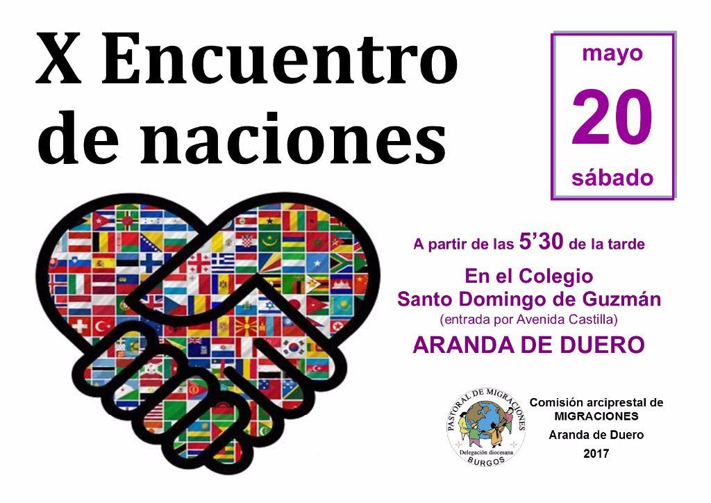Cartel X Encuentro de naciones 20-05-17