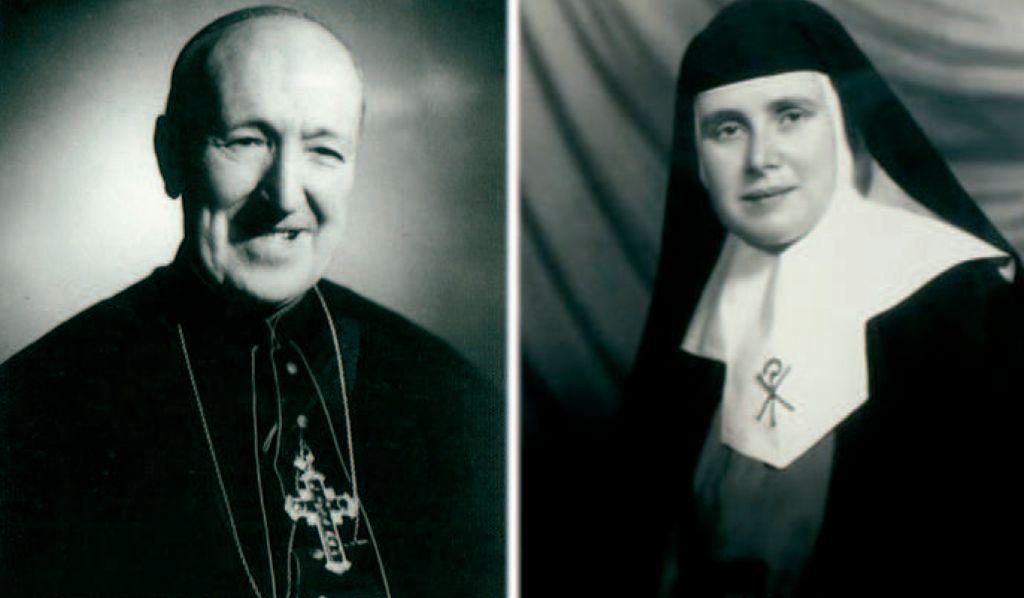 Don Luciano Pérez Platero y Madre Inmaculada (Genoveva Cuadrado), fundadores de las Misioneras de Acción Parroquial.