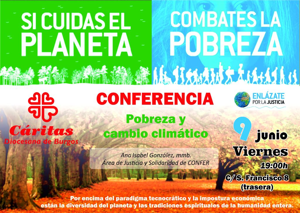 Cartel Conferencia Cáritas