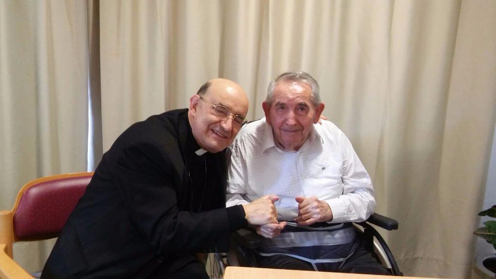Con Clemencio Manso, que ha sido misionero en Japón durante 63 años.