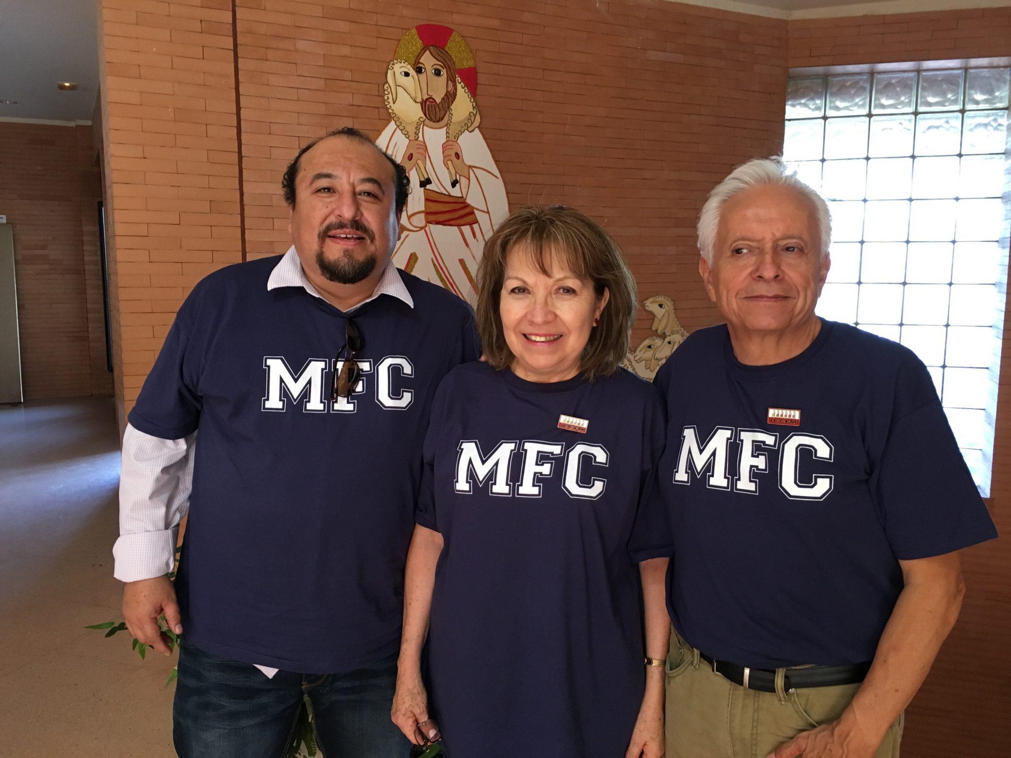 Saúl, Rosalinda y Jorge son los responsables internacionales del MFC.