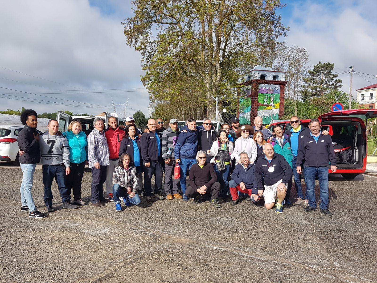 Los peregrinos partieron hacia Santiago el pasado lunes.