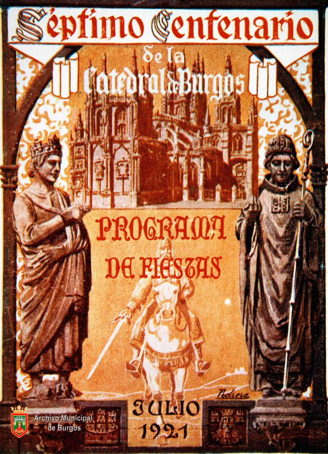 Cartel de los festejos del séptimo centenario. Archivo Municipal de Burgos.