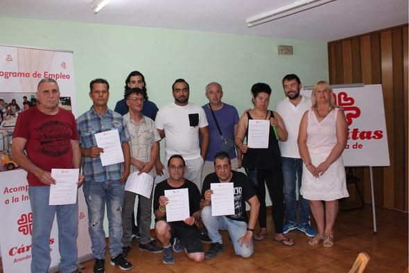 Fotografía de los alumnos participantes en el último curso de formación.