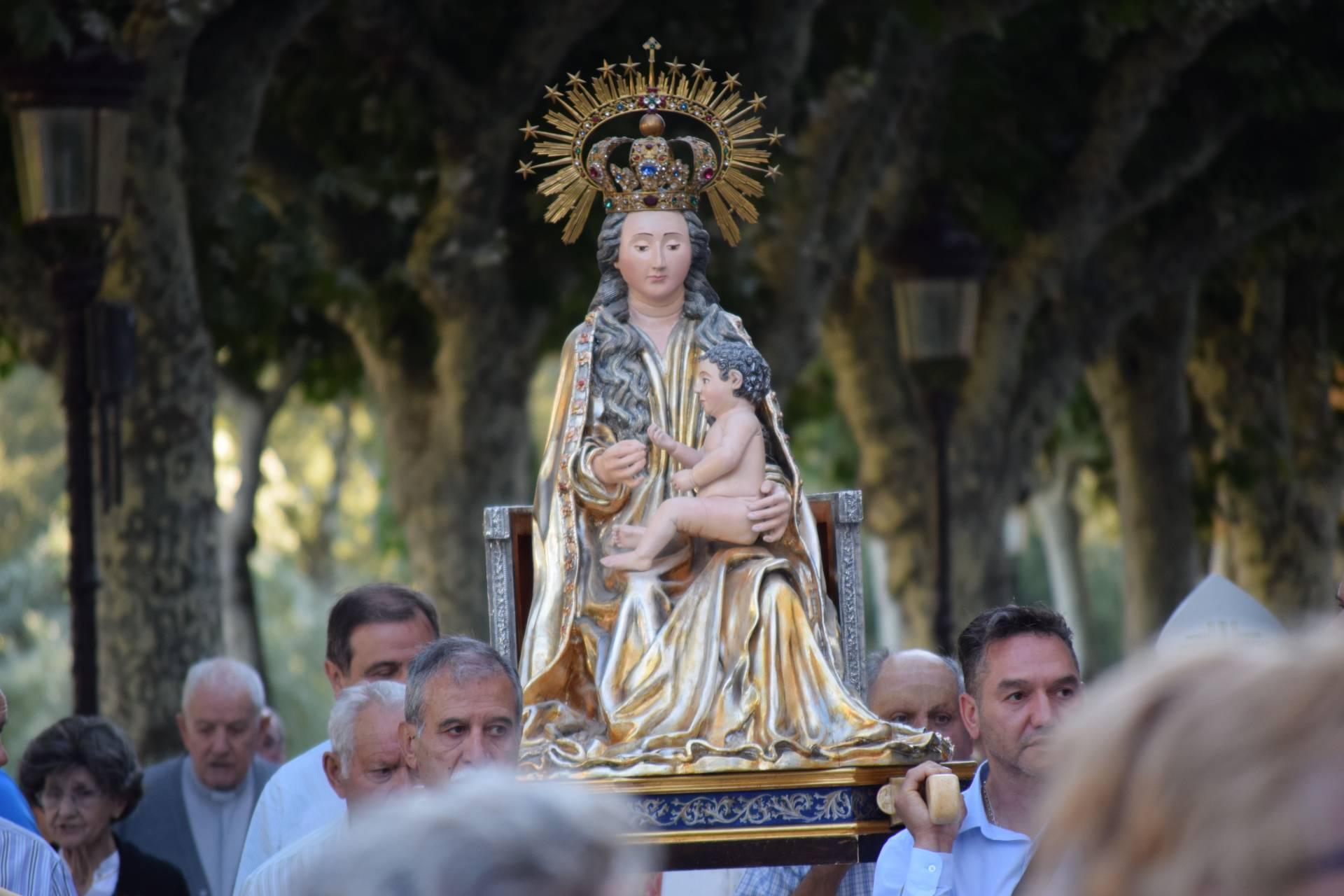 El día 14, la talla de la Virgen recorrerá las calles del casco histórico.