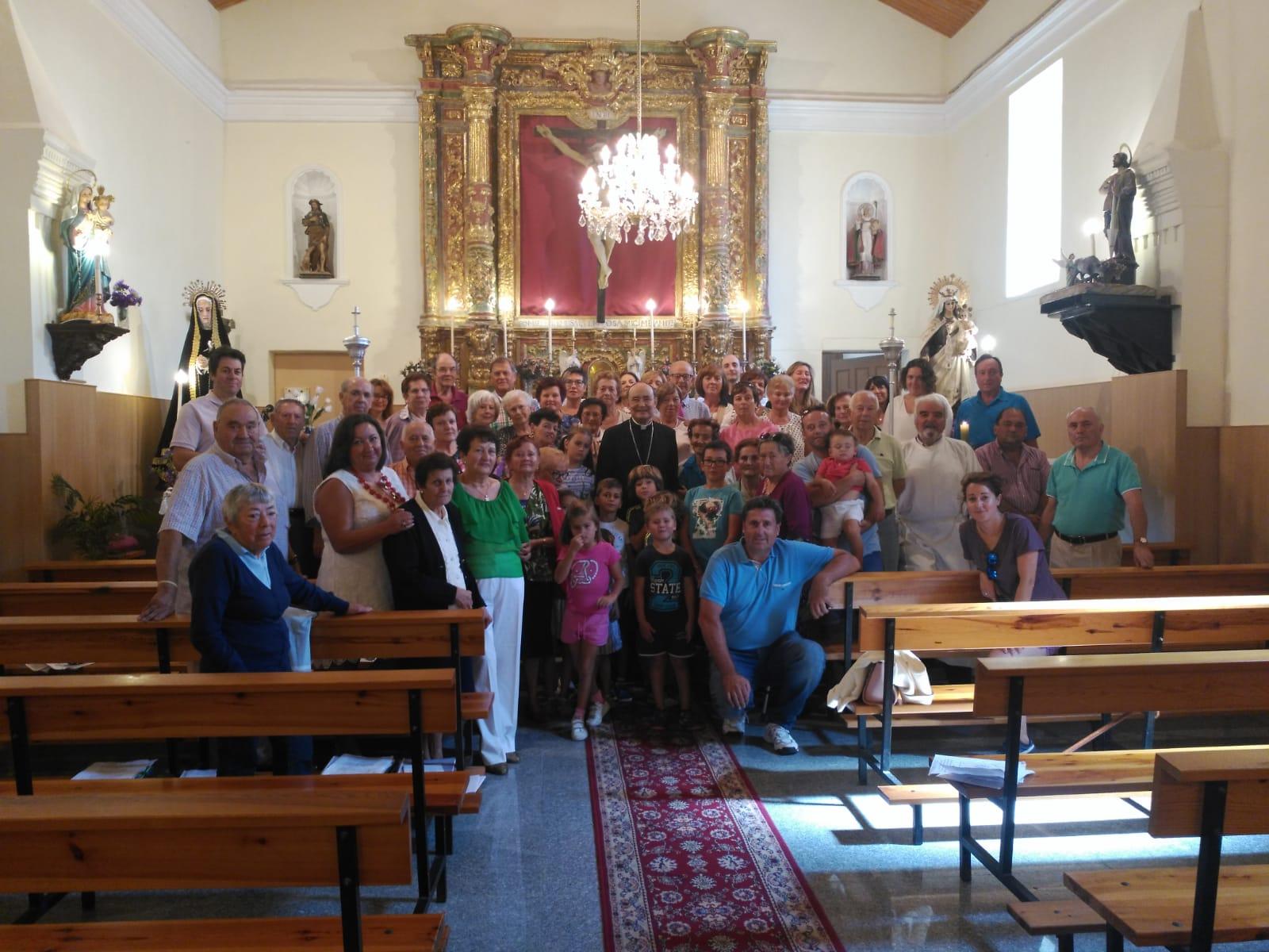 Don Fidel Herráez reanuda su visita pastoral a la diócesis en Rioseras