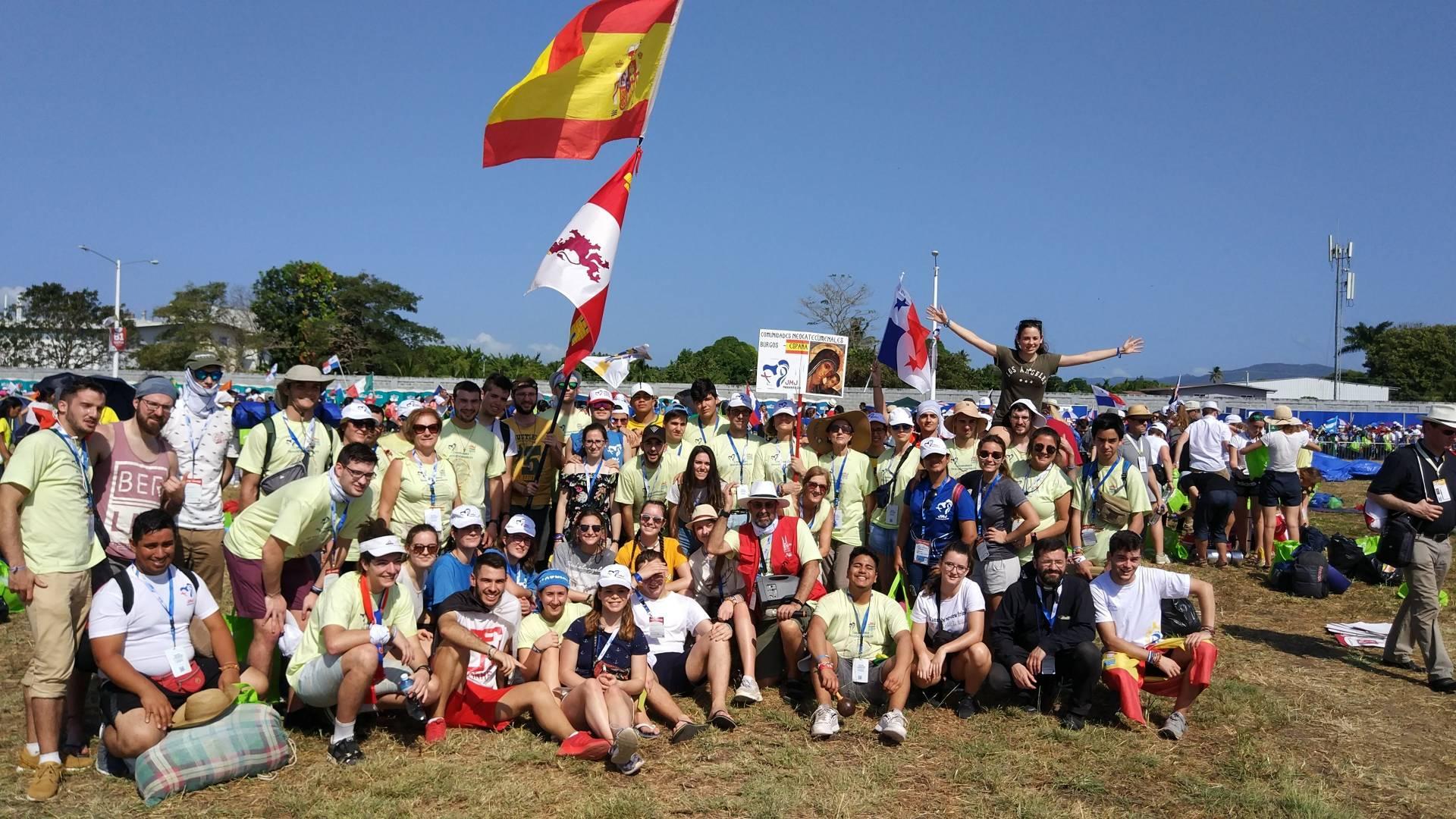 Jóvenes de la diócesis en la JMJ de Panamá.