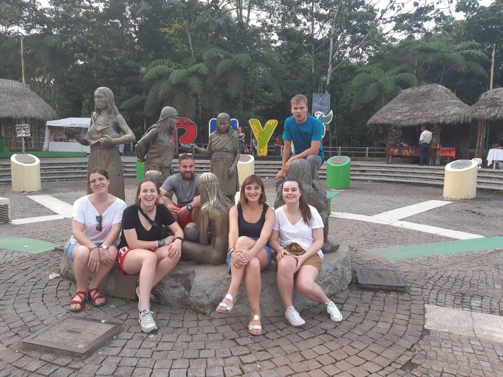 Jóvenes participantes en el voluntariado internacional del año pasado.