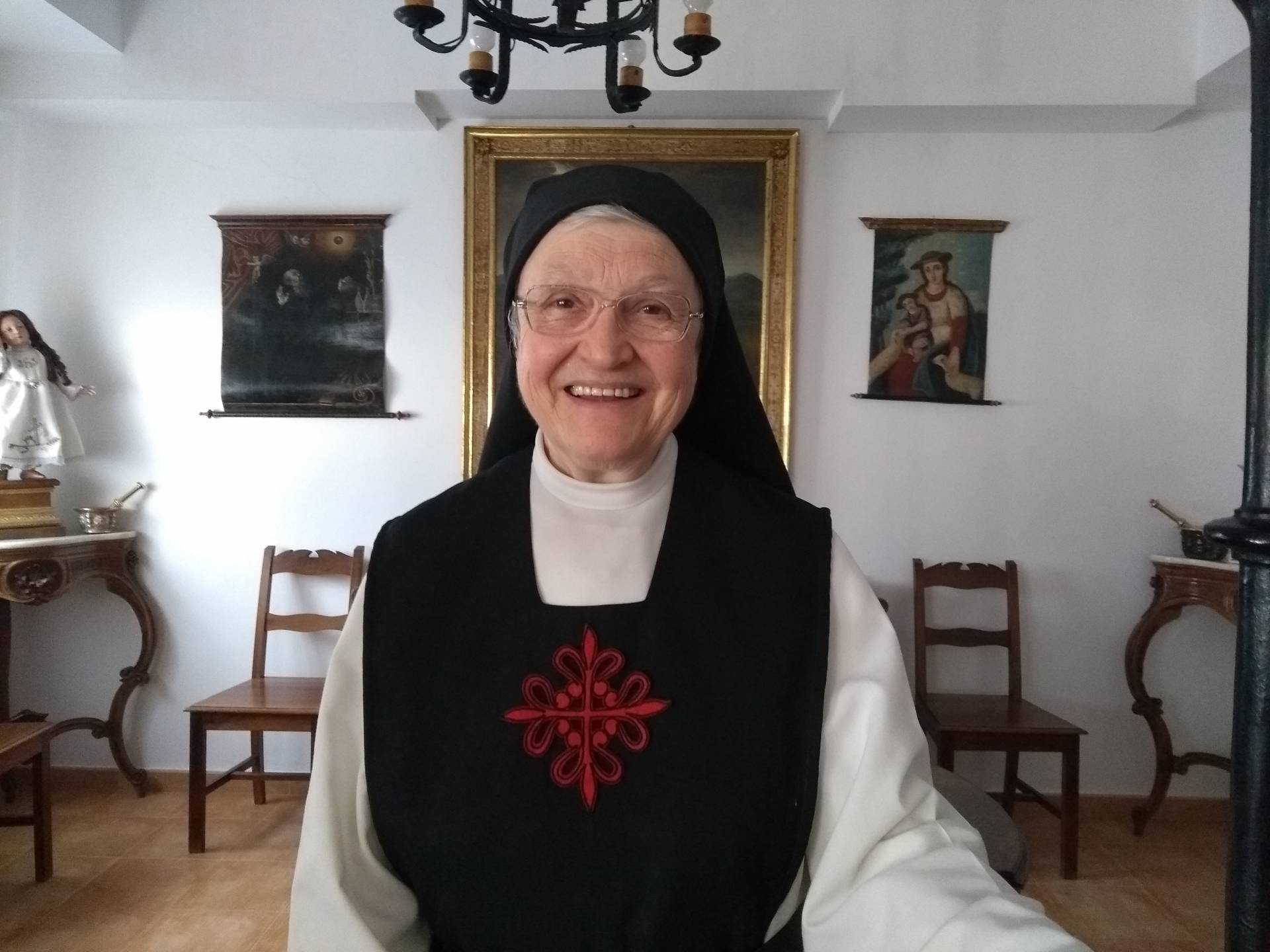 La madre Juana es la abadesa de la comunidad.