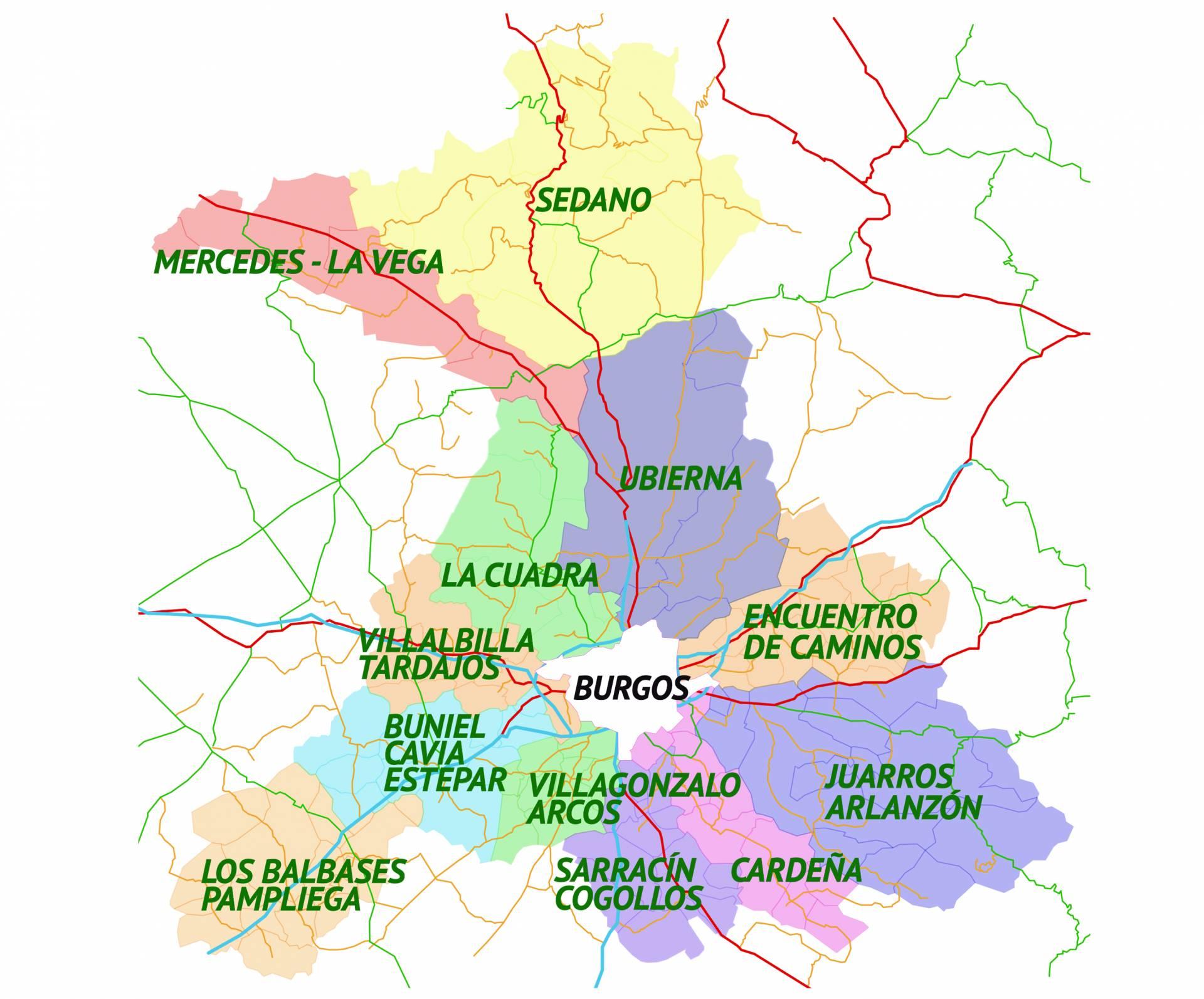 Así quedará configurado el nuevo arciprestazgo de San Juan de Ortega.