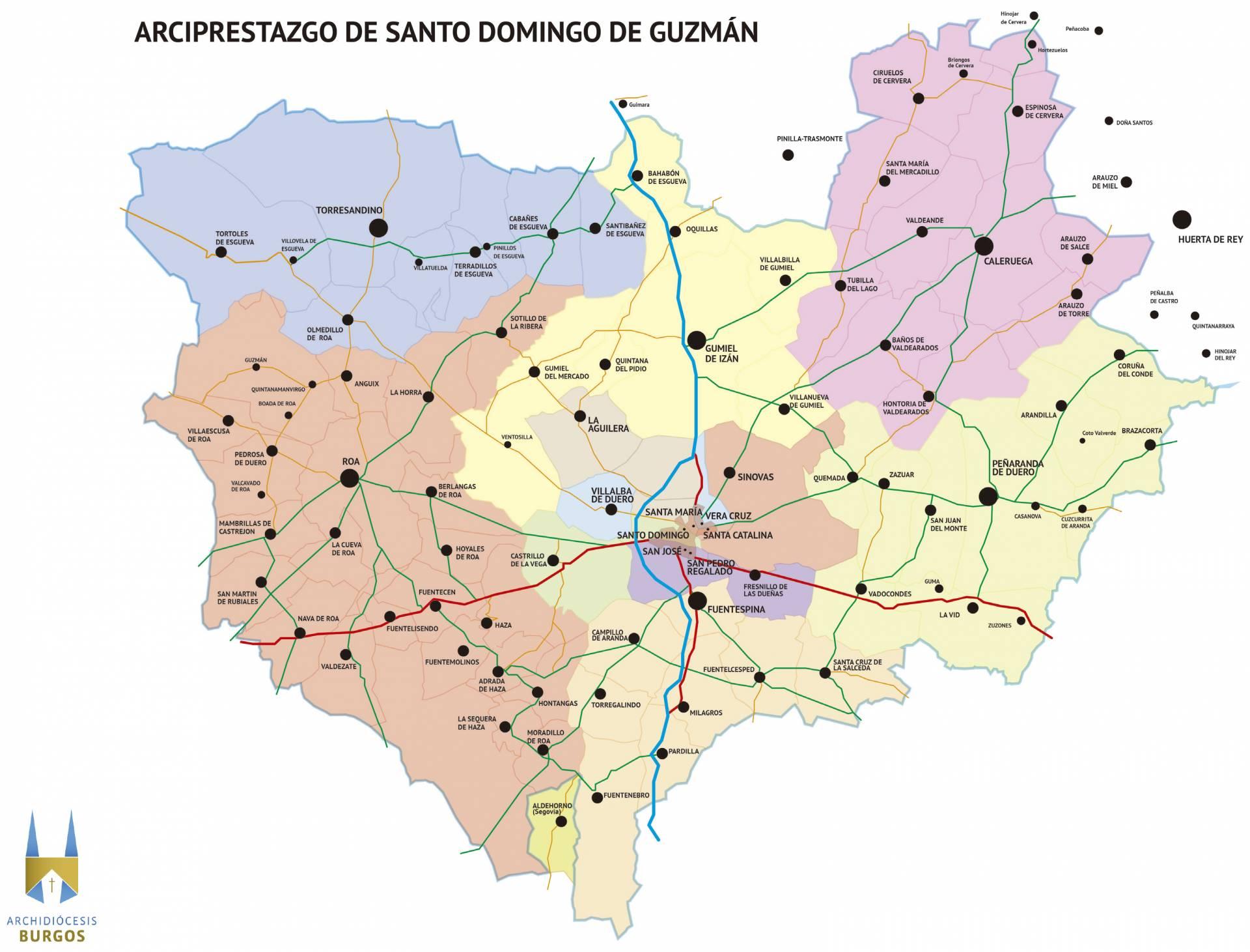 Configuración del nuevo arciprestazgo de Santo Domingo de Guzmán.
